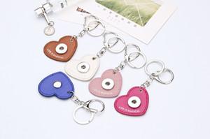 NOOSA 교환 할 수있는 생강 스냅 단추 심혼 열쇠 고리 열쇠 고리 유행 보석 Noosa 가죽 keychain는 유행 keychain HA011를 호의를 보인다