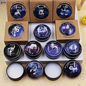 Hohe Qualität 12 Zeichen Konstellation Sternzeichen Parfüm Magie Solide Parfüm Deodorant Solide Duft Für Frauen Männer