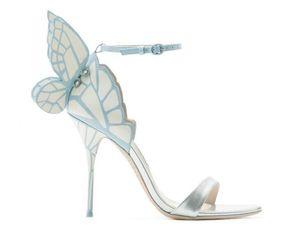 2017 station européenne printemps nouveau sandales à talons hauts Vampire Diaries actrice fantastique coloré papillon mode sauvage femmes sandales