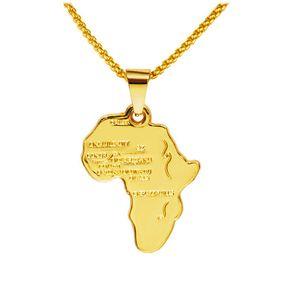 Rock Hippie Pequeño Collar Africano Colgante Collar 18 K Cadena Larga Chapada En Oro Real Joyería de Fiesta Para Hombre Regalos