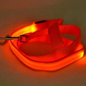 Collari per cani regolabili e traspiranti Guinzagli per cintura Pet LED Light Chestband per cani Trazione luminosa Cinghia per funi libera DHL