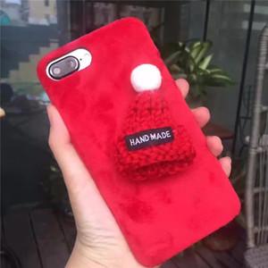 iPhoneXR XS MAX telefon kabuk Apple iPhone6 / 6s peluş bez koruma gelgit kadın için Kore güzel yün şapka