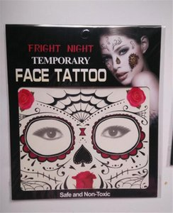 New Festival Face Tattoos Face Temporary Tattoos Hallowmas Tattoos 9 Style Colors Best Quality Gift DHL shipping