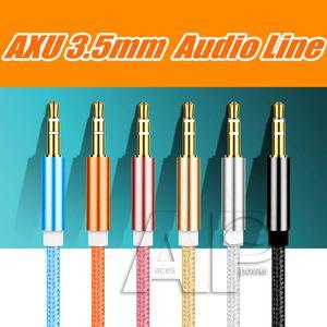 1M maschio a maschio 3,5 millimetri universale placcato oro ausiliare audio stereo jack del cavo AUX cavo Jack a Jack dispositivo
