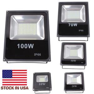 Reflectores 30W 50w 100w 200w 300w Refletor IP66 lámpara de inundación llevada impermeable al aire libre del LED llevó luces de la calle en primer plano de la CA 85-265V