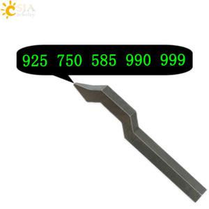 CSJA 925 750 585 999 Bijoux Boucle Marque Timbre Outil Or Argent Sterling Anneau Bracelet Boucle D'oreille En Métal Acier Punch Moule E177