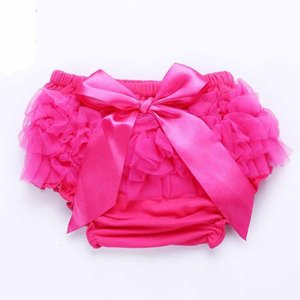 Baby Ruffles Chiffon Bloomer Tutu Infant Toddler Cotton Silk Bow Skirt Shorts Kids Layers Skirt Diaper Cover Underwear PP Shorts