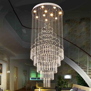Lámpara colgante LED Diseño de arte en la sala Comedor Candelabros Lámparas de luz K9 AC110-240V Lámparas de techo de cristal Iluminación VALLKIN