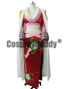 Free shipping One Piece Pirate Empress Boa Hancock Satin Cosplay Costume M008