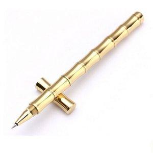 새로운 마커 전술 펜 자기 방어 젤 펜 구리 금속 수제 황동 좋아하는 중성 마커 도구를 밖으로