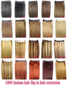 "ZZHAIR 16 ""-32""100 % 브라질 레미 인간의 머리카락 헤일로 머리카락에 인간의 머리카락 확장에 1pcs 세트 비 - 클립 80g-200g"