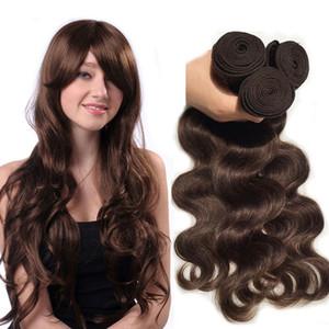 El pelo de la onda del cuerpo de la Virgen malasia teje los paquetes Color # 2 # 99j Extensiones de cabello humano rubio marrón borgoña