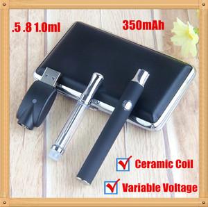 kit de caneta óleo cerâmica bobina Vape cartucho 0,5 0,8 1 ml wickless óleo 510 cartuchos de pré-aquecimento da bateria L0 pré-aquecimento variável Tensão vapes e cigarros