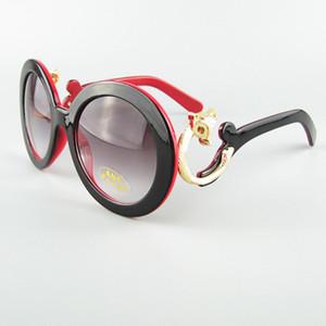 Nuevo marco de las gafas de moda redonda grande con las nubes Templos Gafas de sol Fox Head decoración al por menor envío gratis