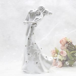 الجملة-كاساس ريفي قبلة الحب زوجين كعكة الزفاف توبر العروس والعريس كعكة حامل كعكة الزفاف اكسسوارات الزفاف الديكور