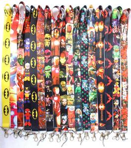 Precio de fábrica, 500 Mix Style Superhero Avengers Justice League Marvel / batman Lanyards Llavero ID Badge Holder Mix color DHL Envío gratis