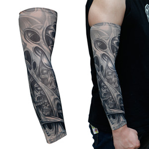 Arts Fake Temporary Tattoo Sleeves Body Art Arm Stockings Accessories Ride Sunscreen Arm Warmers Protection Random Color