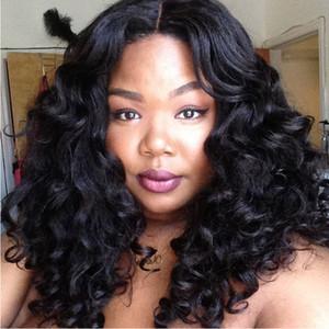 Perucas de cabelo humano laço brasileiras para Mulheres Negras Curly Weaves rendas frente Wigs Mais Grosso Densidade 150% Medium Cap Bellahair 8A