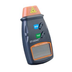 Toptan DT-2234C + temassız LCD Dijital Lazer Takometre 2.5-99.999 RPM Fotoelektrik Hız ölçer Cihazı
