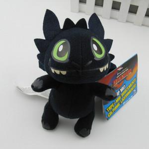 Kawaii Night Fury Peluches Cómo entrenar a tu dragón 2 juguetes Toothless Dragon Stuffed Toys Doll para niños regalo 18 cm