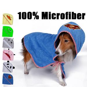 Série de moda animal Produtos de banho de cão Toalha De Cão 100% microfibra super absorvente absorvente super suave Toalha de animais 4 tamanhos 6 cores IC797