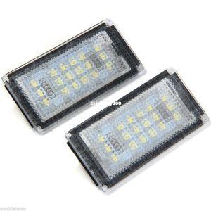 Luz Branca OBC Erro Livre 18 LED Lâmpada de Placa de Licença para BMW E46 2D 04 05 06