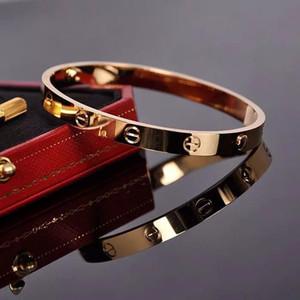 хорошие новые винты никогда не теряют стиль серебро 18 карат розовое золото нержавеющая сталь 316L навсегда любители винт браслет Браслет без отвертки