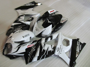 Kit carena in plastica ABS per Suzuki GSXR1000 07 08 carenatura bianco nero GSXR1000 2007 2008 OT19