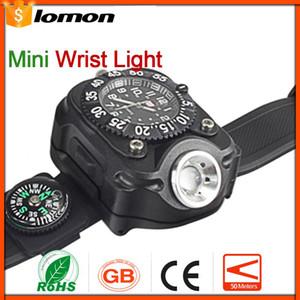 Lámpara táctica recargable LED linterna luz de muñeca lámpara impermeable 5 modos LED reloj de pulsera antorcha deportes al aire libre práctica lámpara portátil