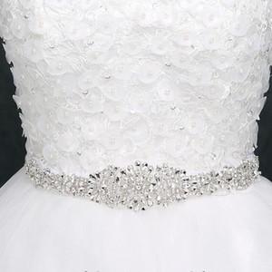 حجر الراين حزام الزفاف الزفاف أحزمة أحزمة الزفاف فساتين الزفاف بلورات العاج الأبيض رمادي أسود بورجوندي الوردي