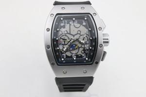 de alta qualidade Man relógio de borracha preta caso de prata grande relógio 43 milímetros Aparelhos multifunções frete grátis 011 relógio