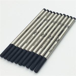 Moda de alta qualidade 6 PCS muito preto recarga 710 caneta para caneta esferográfica rolo de metal