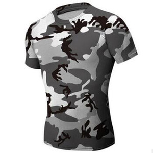 Jagd Camouflage Tight T-Shirt Herren Fitness Bekleidung Compression Army Tactical Combat Shirt Camo Compression Fitness Herren Outdoor Sportbekleidung