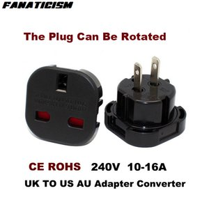 Fanaticism Top-Qualität Universal Travel AC Power Socket 9628 UK zu US AU Stecker-Adapter-Konverter Elektrischer Stecker-Adapter