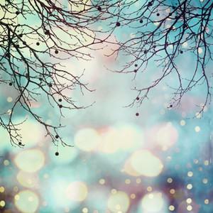 Brillantes lunares fotografía telones de fondo azul claro Recién nacido bebé ducha telón de fondo ramas de árboles vacaciones familia estudio retrato fondos