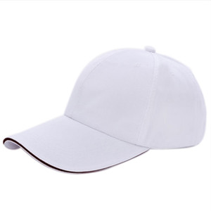 Al por mayor- FS Hot Plain Gorra de béisbol Mens Ladies Adult Hat Summer-White