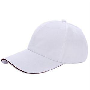 Großhandels-FS heiße einfache Baseballmütze-Mens-Damen-erwachsener Hut Sommer-Weiß