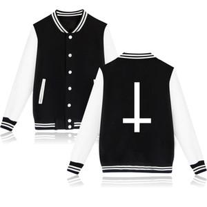 Gros-New Fashion 2016 Satan Cartoon Design Mal Baseball Jacket XXXXL Plus La Taille Hommes / Femmes Sweatshirt Hiver Marque Hoodies Survêtement