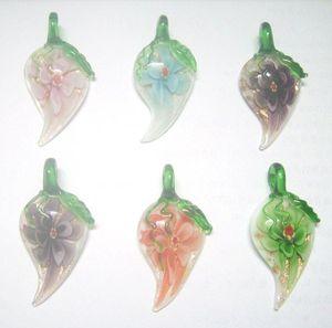 10 pçs / lote Multicolor Murano Lampwork Pingentes De Vidro Para DIY Artesanato Presente Da Jóia Da Forma PG13 * Frete Grátis