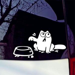 """Автомобили Мотоциклы внешние аксессуары автомобильные наклейки 22см * 10см голодный кот """" накорми меня!""""Наклейки Смешные Топливный Бак Наклейки Авто Наклейки"""