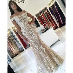Элегантные Vestidos de Fiesta astreatheart Appleded Кружева прозрачные длины пола 2019 русалка невесты платья невесты Sexy от платьев плеча