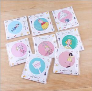 Damen Taschenspiegel handbemalt Kleine Mini Tragbare Spiegel Verschiedene Muster Cartoon Kosmetik Make-Up Spiegel Zufällige Farbe