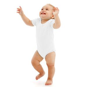 Baby Pagliaccetti Suit Summer Infant Triangle Pagliaccetto Onesies 100% cotone Bambini manica corta vestiti ragazzo ragazza bianco puro full size in magazzino