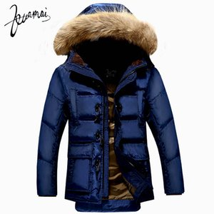 Großhandels-KUAMAI neue Männer Daunenmantel Marke Kleidung Winterjacke Männer Nagymaros Kragen warme Schnee Hupenknopf Ente Daunenjacke Männer XXXL
