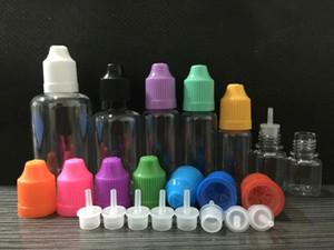 10PCS PET القطارة زجاجة لعصير E 5ML 10ML 15ML 20ML 30ML 50ML 100ML E السائل البلاستيك زجاجات السائل E فارغة مع قبعات Childproof