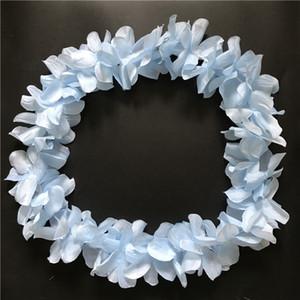 Blue Hawaiian Hula Leis Garland kolye Çiçek Çelenkler Yapay Bahçe Şenlikli Parti Tedarikçiler Çiçekler 100pcs çok