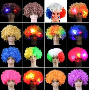 New LED Wig Luminous Wig headgear Halloween Decoration Colorful Party Headgear Wig Cosplay performance supplies IA682