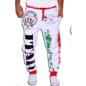 Toptan dış ticaret satış trendy moda pantolon İtalyan bayrağı baskı tasarım erkek eğlence pantolon