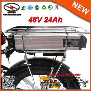 E vélo Batterie rack 48V 24AH Lithium Ion Li-Ion vélo électrique 48V Samsung batterie pour 1000W Vélo Giant