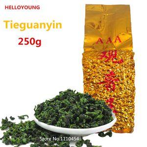 paquetes chinos de vacío del té Oolong destacados 250g té aromático tipo tradicional TiKuanYin té verde Anxi TieGuanYin